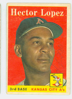 Hector Lopez AUTOGRAPH 1958 Topps #155 Athletics   [SKU:LopeH698_T58BB]