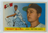 Windy McCall AUTOGRAPH d.15 1955 Topps #42 Giants CARD IS F/P