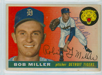 Bob G Miller AUTOGRAPH 1955 Topps #9 Tigers  CARD IS F/G; STAPLE HOLE