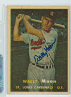 Wally Moon AUTOGRAPH d.18 1957 Topps #65 Cardinals 