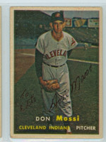 Don Mossi AUTOGRAPH 1957 Topps #8 Indians 