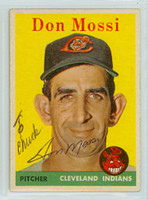 Don Mossi AUTOGRAPH 1958 Topps #35 Indians 