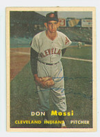 Don Mossi AUTOGRAPH d.19 1957 Topps #8 Indians 