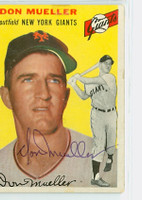 Don Mueller AUTOGRAPH d.11 1954 Topps #42 Giants 