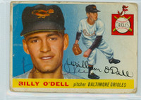 Billy O' Dell AUTOGRAPH d.18 1955 Topps #57 Orioles CARD IS POOR