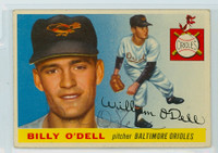 Billy O' Dell AUTOGRAPH d.18 1955 Topps #57 Orioles 