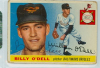 Billy O' Dell AUTOGRAPH d.18 1955 Topps #57 Orioles CARD IS F/P