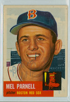 Mel Parnell AUTOGRAPH d.12 1953 Topps #19 Red Sox INSCR; VERY CLEAN Ex++