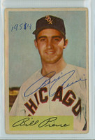 Bill Pierce AUTOGRAPH d.15 1954 Bowman #102 White Sox  