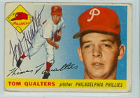 Tom Qualters AUTOGRAPH 1955 Topps #33 Phillies  CARD IS G/VG