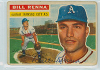 Bill Renna AUTOGRAPH d.14 1956 Topps #82 Athletics  CARD IS F/P