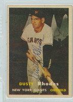 Dusty Rhodes AUTOGRAPH d.09 1957 Topps #61 Giants  