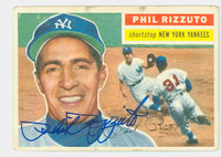 Phil Rizzuto AUTOGRAPH d.07 1956 Topps #113 Yankees VG; lt toning on border, sharp signature