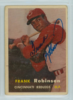 Frank Robinson AUTOGRAPH d.19 1957 Topps #35 Reds ROOKIE CARD IS F/G