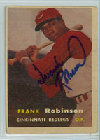 Frank Robinson AUTOGRAPH d.19 1957 Topps #35 Reds ROOKIE 
