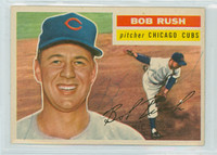 Bob Rush AUTOGRAPH d.11 1956 Topps #214 Cardinals TOUGH SERIES 