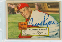 Connie Ryan AUTOGRAPH d.96 1952 Topps #107 Phillies  