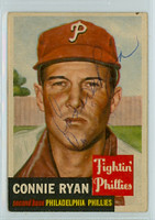 Connie Ryan AUTOGRAPH d.96 1953 Topps #102 Phillies  