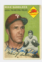 Mike Sandlock AUTOGRAPH d.16 1954 Topps #104 Phillies 