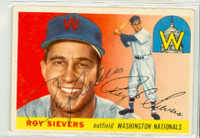 Roy Sievers AUTOGRAPH d.18 1955 Topps #16 Senators CARD IS VG
