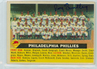 Roy Smalley AUTOGRAPH d.11 1956 Topps #72 Phillies Team CENTER  