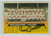 Roy Smalley AUTOGRAPH d.11 1956 Topps #72 Phillies Team NO DATE  