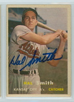Hal W. Smith AUTOGRAPH d.20 1957 Topps #41 Athletics 