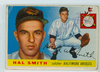 Hal W. Smith AUTOGRAPH d.20 1955 Topps #8 Orioles CARD IS F/P
