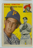 Paul Smith AUTOGRAPH d.19 1954 Topps #11 Pirates 