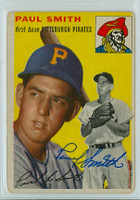 Paul Smith AUTOGRAPH 1954 Topps #11 Pirates  