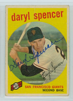 Daryl Spencer AUTOGRAPH d.17 1959 Topps #443 Giants 