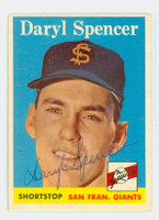 Daryl Spencer AUTOGRAPH d.17 1958 Topps #68 Giants 