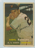 Daryl Spencer AUTOGRAPH d.17 1957 Topps #49 Giants 