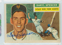 Daryl Spencer AUTOGRAPH d.17 1956 Topps #277 Giants TOUGH SERIES 