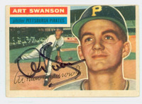 Art Swanson AUTOGRAPH 1956 Topps #204 Pirates TOUGH SERIES 