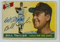 Bill Taylor AUTOGRAPH d.11 1955 Topps #53 Giants  CARD IS POOR