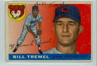 Bill Tremel AUTOGRAPH d.13 1955 Topps #52 Cubs  CARD IS POOR