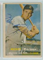 Mickey Vernon AUTOGRAPH d.08 1957 Topps #92 Red Sox    [SKU:VernM324_T57BB2pl]