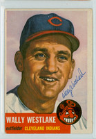 Wally Westlake AUTOGRAPH d.19 1953 Topps #192 Indians 