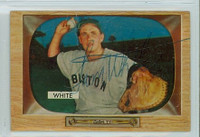 Sammy White AUTOGRAPH d.91 1955 Bowman #47 Red Sox CARD IS POOR
