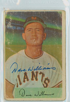Davey Williams AUTOGRAPH d.09 1954 Bowman #9 Giants  