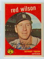 Red Wilson AUTOGRAPH d.14 1959 Topps #24 Tigers  CARD IS F/G; CREASES