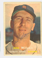 Red Wilson AUTOGRAPH d.14 1957 Topps #19 Tigers CARD IS CLEAN VG