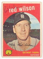 Red Wilson AUTOGRAPH d.14 1959 Topps #24 Tigers 