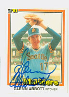 Glenn Abbott AUTOGRAPH 1981 Donruss #47 Mariners 
