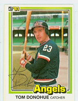 Tom Donohue AUTOGRAPH 1981 Donruss #51 Angels 