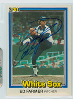 Ed Farmer AUTOGRAPH 1981 Donruss #40 White Sox 