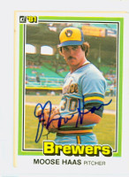 Moose Haas AUTOGRAPH 1981 Donruss #85 Brewers 