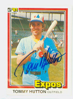 Tommy Hutton AUTOGRAPH 1981 Donruss #93 Expos 