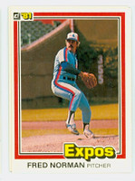 Fred Norman AUTOGRAPH 1981 Donruss #92 Expos 